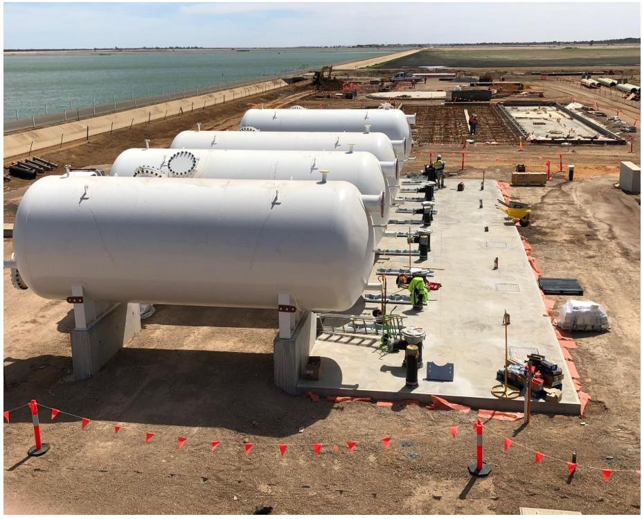 Se instala el sistema de filtracion de la desalobradora de Adelaida (Australia)