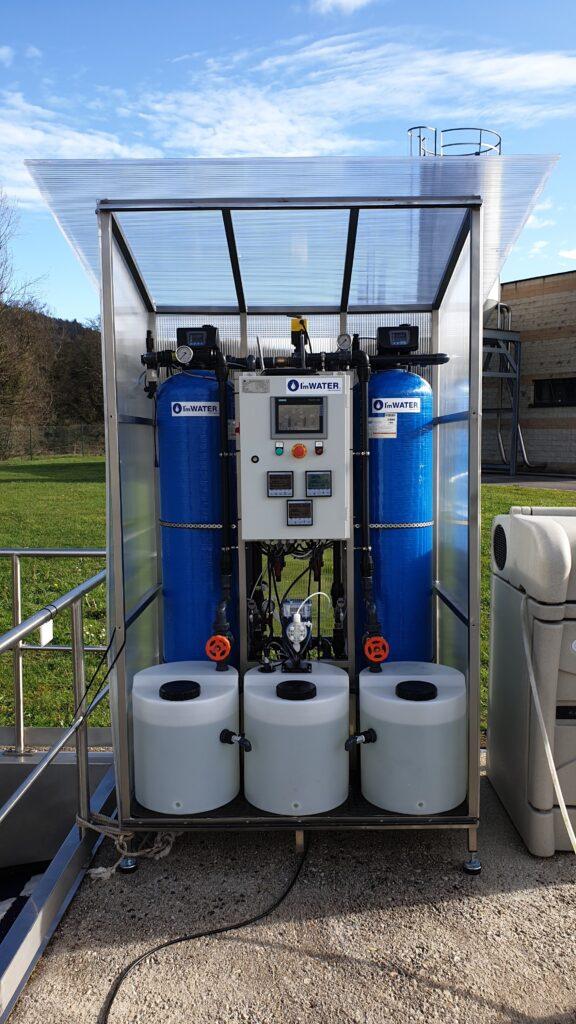 Système de filtration de charbon actif avec une capacité de 2 M3/H