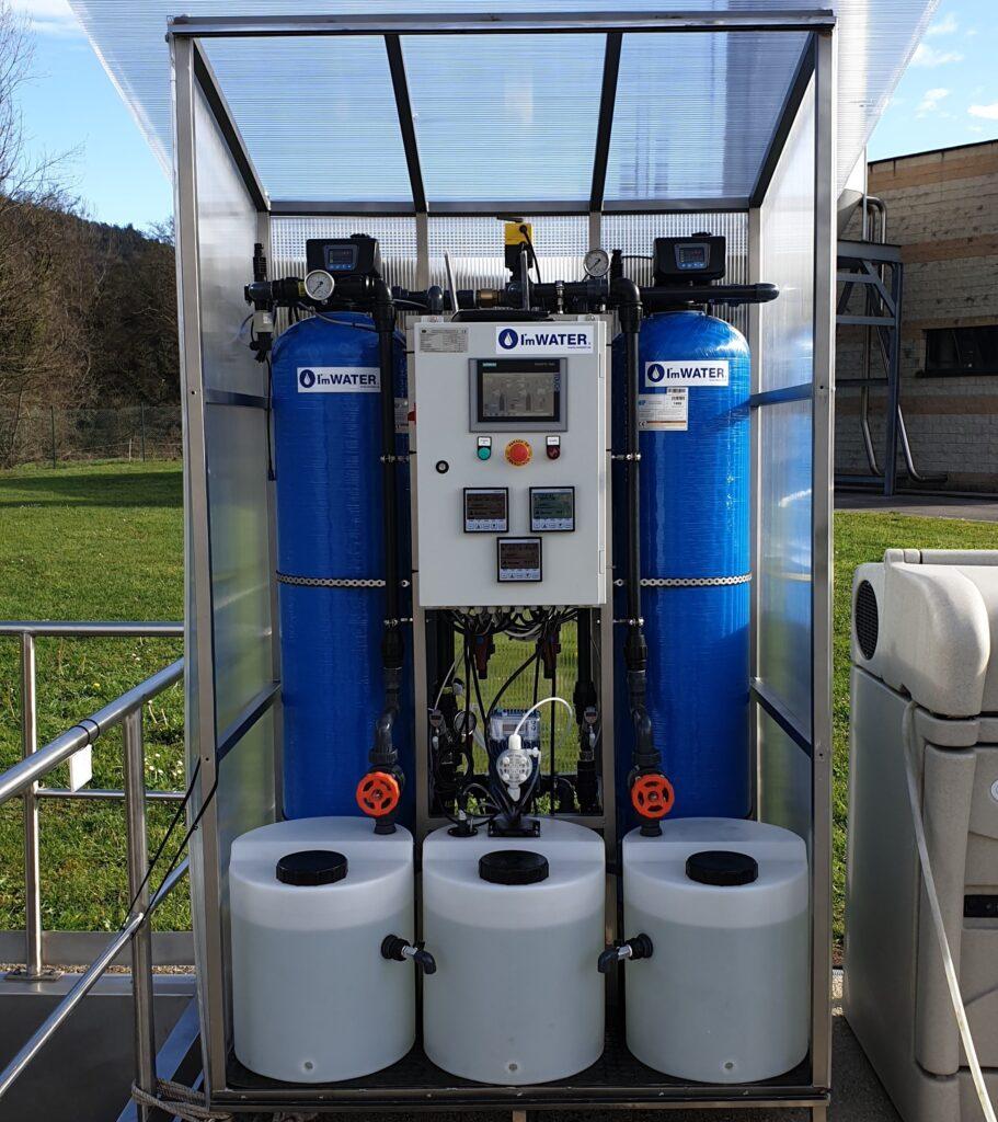 Sistema de filtración en carbon activo con capacidad 2 m3/h
