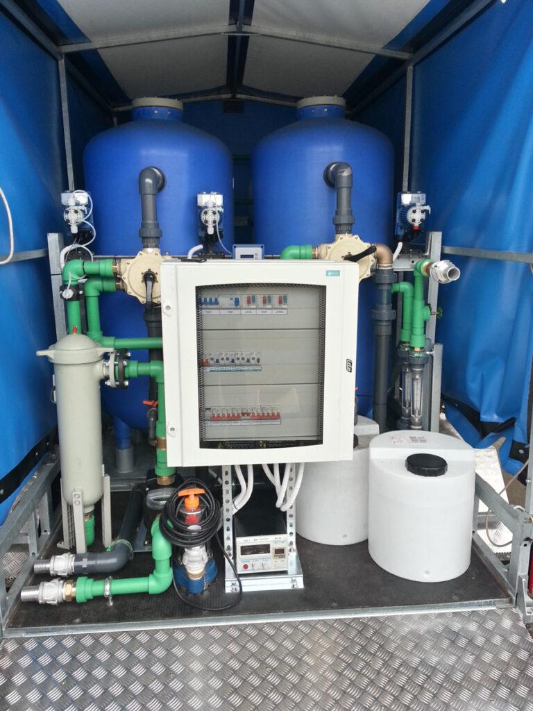 Stations de potabilisation des eaux pour des situations d'urgence